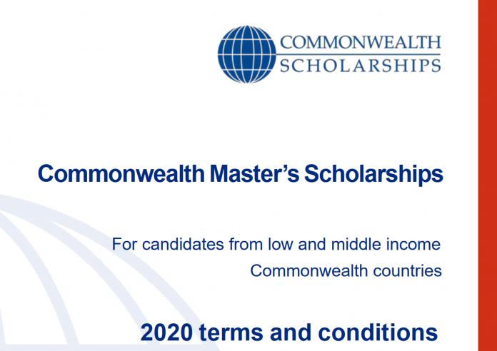jobsandschools.com commonwealth masters scholarships 2020