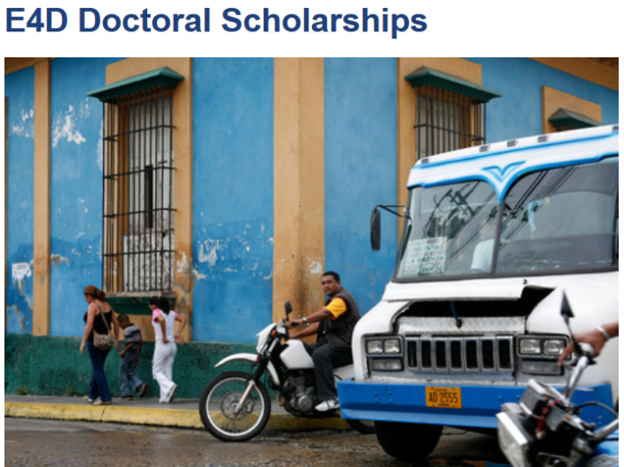 Engineering for Development (E4D) Doctoral Scholarships 2020 Zurich Switzerland