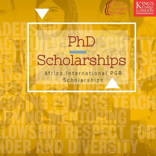 The African Leadership Centre Kings College London Africa International PGR Scholarships 2020