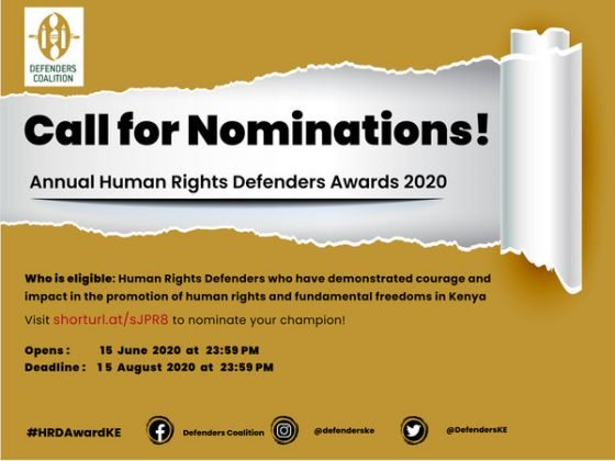 The Human Rights Defenders Award