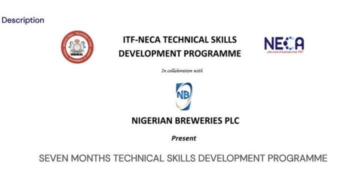 Nigerian Breweries Plc Industrial Training Fund (ITF) NECA – Technical Skills Development Programme